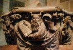 Fig 19. Moses on the 1518 baptismal font in St. Amandus, Bad Urach, Germany, by the sculptor Christoph von Urach.