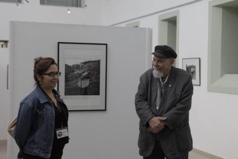 Gérald Bloncourt e Conceição Tina, a menina da imagem. Melgaço, Agosto 2014.