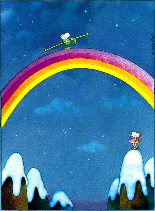 Guillermo Mordillo Over The Rainbow.