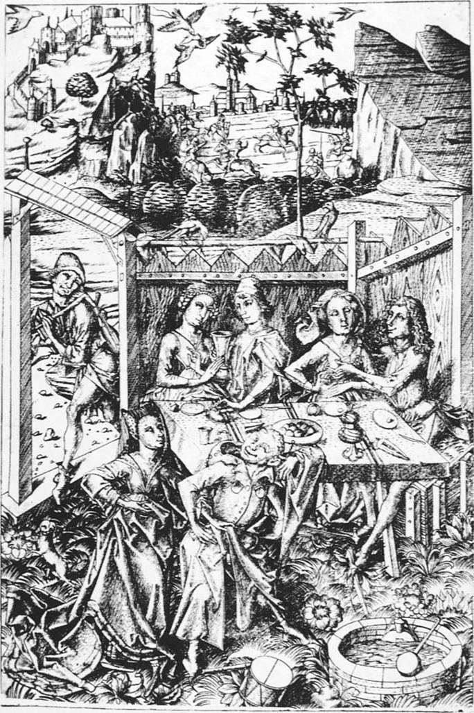 Mestre E. S. Festa no Jardim do Amor. C. 1465.