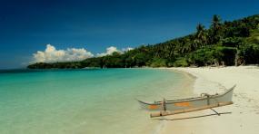 Praia em Mindanao