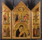 02. Paolo Veneziano. Triptico da Virgem. 1324. Parma. Ascensão de Madalena no painel da direita.