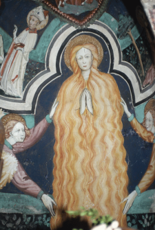 Ascensão de Maria Madalena. Fresco da Capela de St Erige, Auron. França. Séc. XV,
