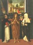 19. Santa María Magdalena entre San Pedro Mártir y Santa Catalina de Siena. Gherardo del Fora, c. 1480.