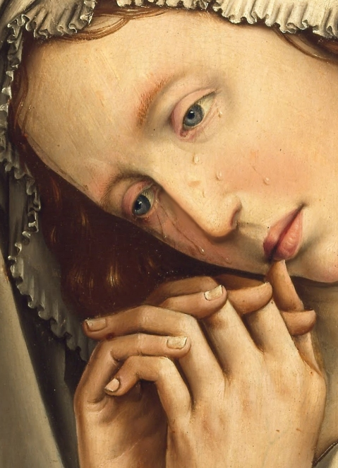 Colijn de Coter,The Mourning Mary Magdalene (1500 - 1504) detail.