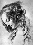 34. Mary Magdalene . Drawing in charcoal . Leonardo da Vinci . 1517.