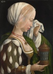 39. Workshop of Master of the Magdalen Legend, Magdalene weeping.  About 1525.