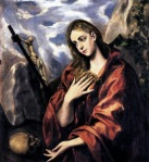 45. El Greco. Mary Magdalen in Penitence. 1585-90.