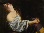 56. Mary Magdalene in Ecstasy by Artemisia Gentileschi, ca. 1620