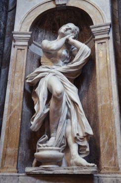 "Bernini, ""St. Mary Magdalen,"" 1661-1663, Chigi Chapel, Siena Cathedral, Siena."