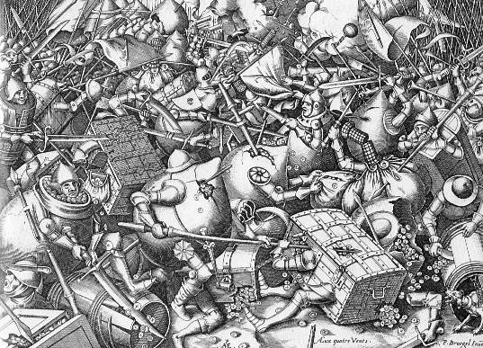 After Pieter Bruegel the Elder. Feast of Fools. After 1570.