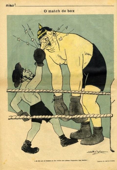 Desenho de Leal da Câmara. Miau, nº 13, de 14 de Abril de 1916.