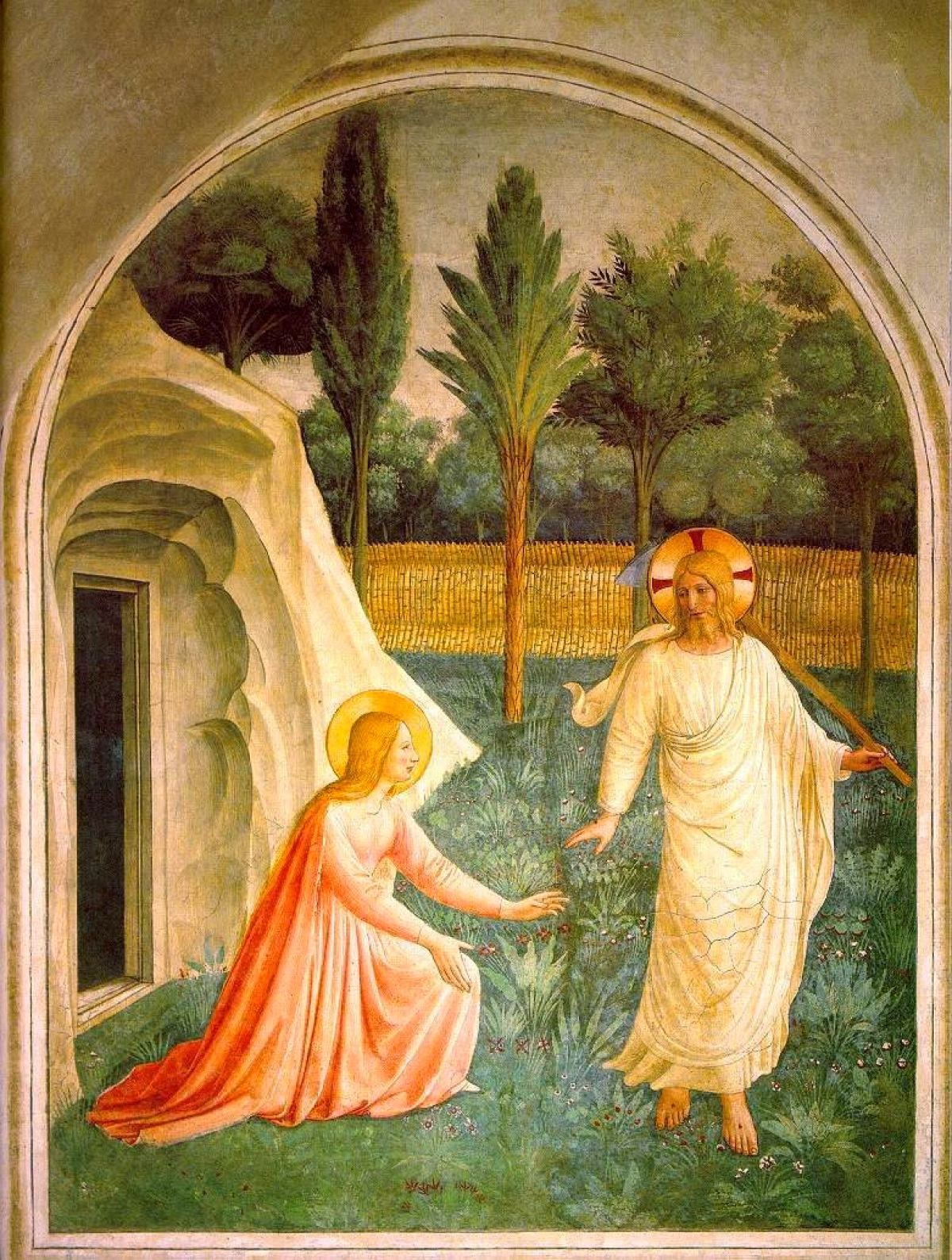"""""""Noli Me Tangere"""" by Fra Angelico, c. 1440."""