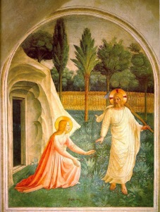 """Noli Me Tangere"" by Fra Angelico, c. 1440."