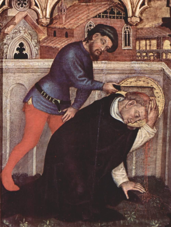 Gentile da Fabriano. Polittico di Valle Romita - Il martirio di S. Pietro.C. 1400.