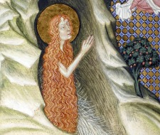 Hairy Mary of Egypt. Missal and book of hours, Lombardy, ca. 1385-1390.