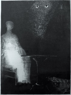 """Odilon Redon, """"The Haunted and The Haunters"""", 1896"""