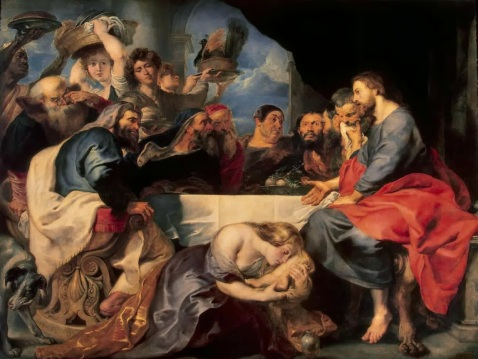 Rubens Pieter Paul - Feast in the House of Simon the Pharisee. 1618-20.