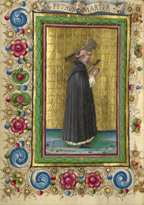 Taddeo Crivelli (Italiano, activo entre  1451 e 1479). São Pedro Mártir.