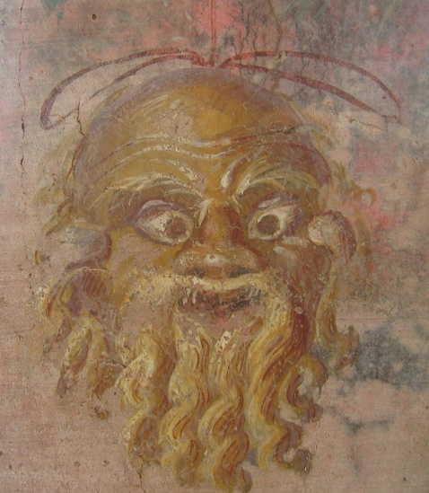 Fresco of Silenus mask, Villa of Fannius Synistor, Pompeii. Metropolitan Museum of Art