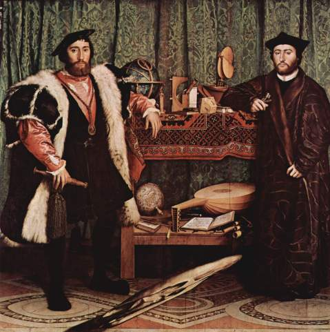 01. Hans Holbein. The Ambassadores. 1533.
