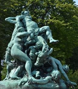 Jules Dalou. O triunfo de Sileno. Jardin du Luxembourg. 1885.