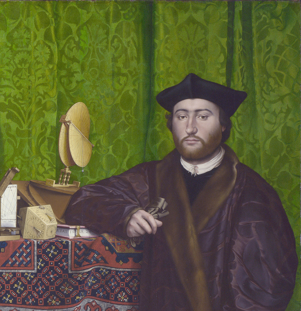 06. Holbein. The Ambassadors. As luvas de Georges de Selve