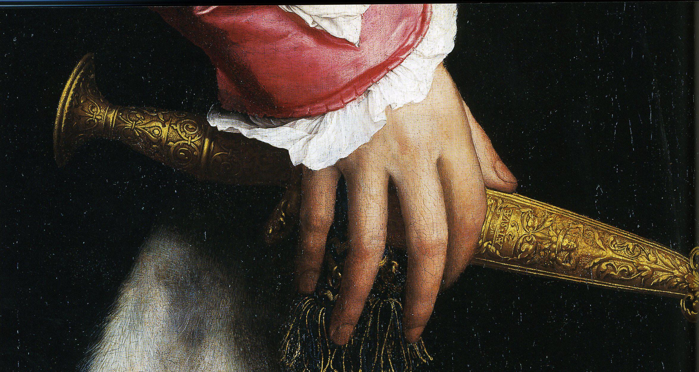 10. Hans Holbein. The Ambassadors. Punhal. Idade