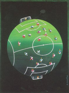 Mordillo. Futebol.