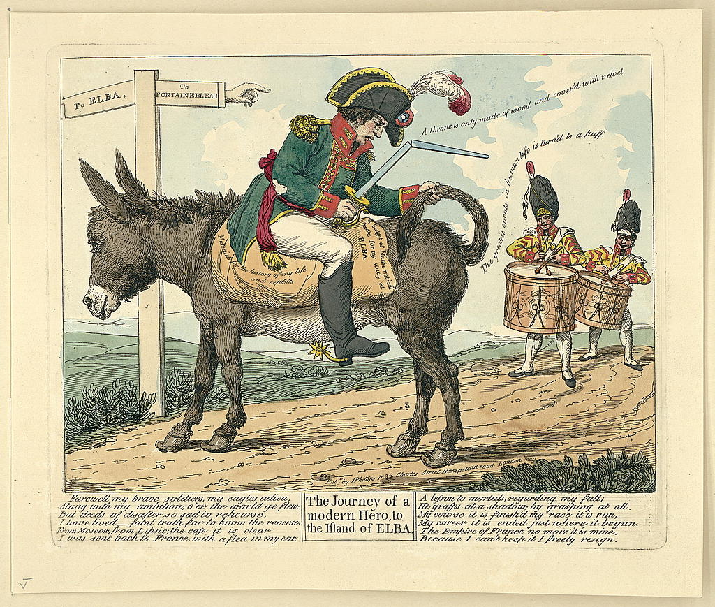 The Journey of a modern Hero, to the Island of Elba. 1814.