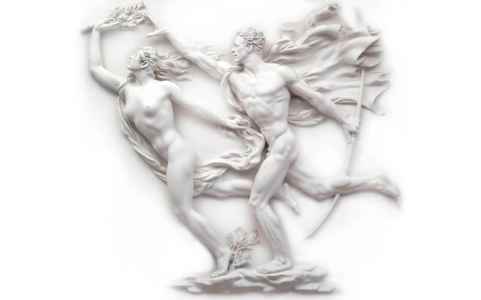 Arno Breker 4. Apolo e Dafneia.