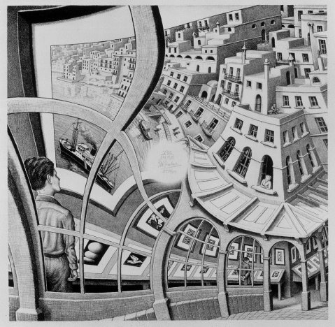 M. C. Escher. Print Gallery. 1958.