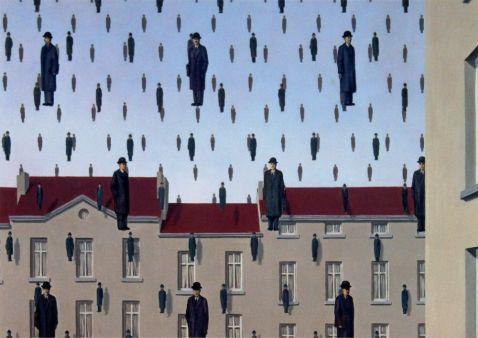 René Magritte. Golconda, 1953.