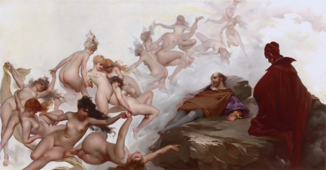 Luis Ricardo Falero. Faust's dream. 1880.