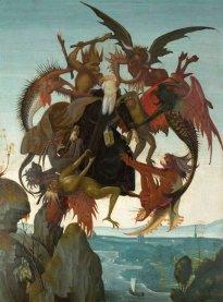 Michelangelo. La tentazione di Sant'Antonio. 1488. Tempera su tavola, Kimbell Art Museum,