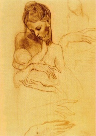 Picasso. Mother and sun, ca 1904