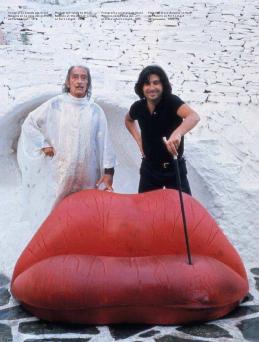Salvador Dali with Dalilips