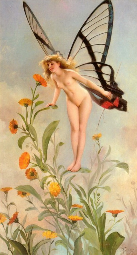 Luis Ricardo Falero. The Butterfly. 1893.