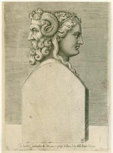 Bust of the Roman god Janus. 1569.