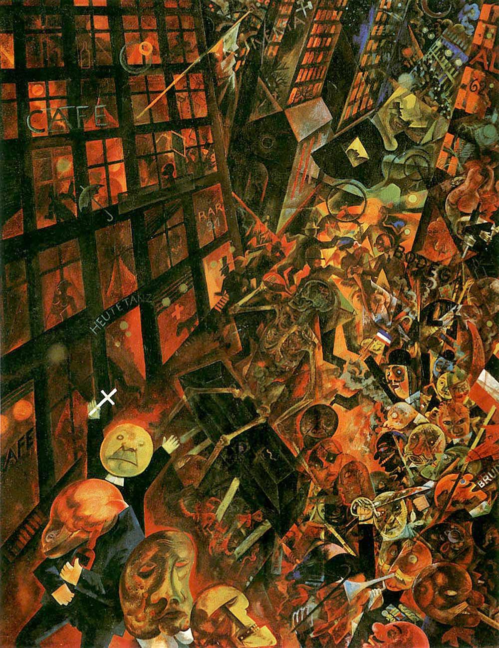 George Grosz. Exequias. Dedicado a Oskar Panizza, 1918.