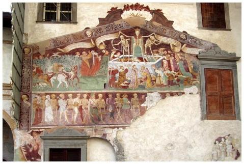 Triunfo e Dança da Morte. Clusone. Dornai. Séc. XV.