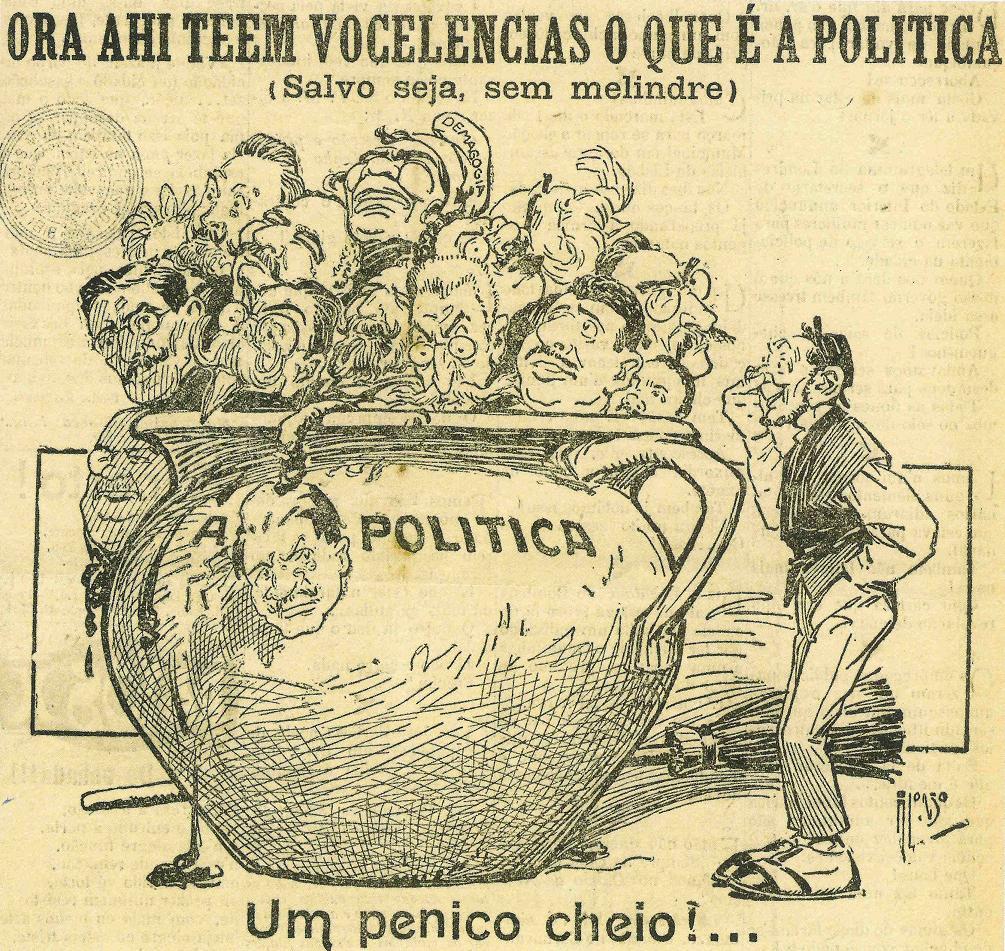 Caricatura de Alonso (1871-1948), do primeiro quartel do século XX.