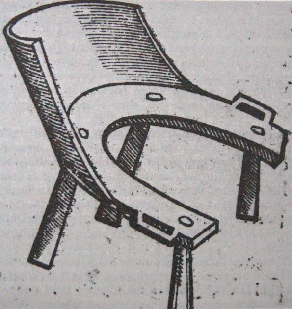 Chaise obstétricale, A. Paré, Œuvres, 1585.
