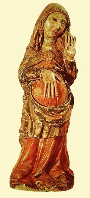 N. Senhora do Ó, ou da Expectação. Portugal, séc. XIV. Museu Nacional de Arte Antiga