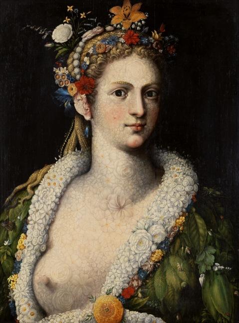Giuseppe Arcimboldo. Flora Meretrix. 1590.