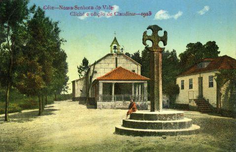 Nossa Senhora do Vale. Cliché Claudiniz. 1913. São Pedro de Cete. Paredes.
