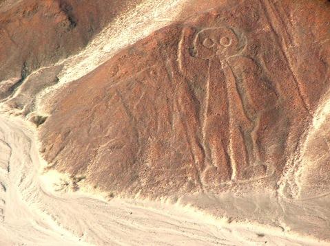O astronauta. Nazca. Perú.