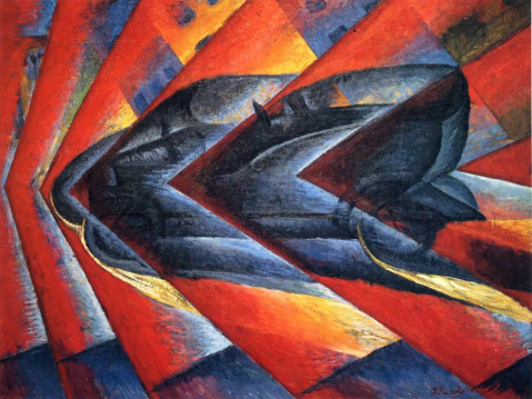 Luigi Russolo. Dinamysm of a car. 1912-13.