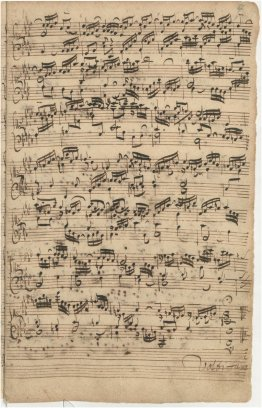 The Well-Tempered Clavier vol. I Prelude (BWV 857) page 02 Composer's manuscript Sheet Music.