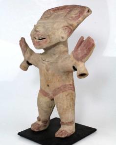 Figura sorridente. Cultura Remojadas. Vera Cruz. México. Secs. VII-VIII.